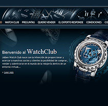 WatchClub tienda online accesible. A Design, and Software Development project by Eloy Ortega Gatón - 17-07-2009