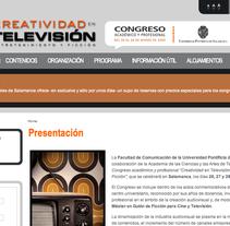 Congreso Internacional de Creatividad en Televisión. A Design&IT project by Ángel Martín Hernández - 22-01-2010