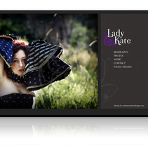 LADY KATE WEBSITE. A Design, Advertising, Music, and Audio project by oscar abizanda         - 27.01.2010