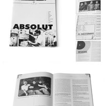 "Revista ""Absolut zine #8"". A Design project by Lluís Wenceslau Aparicio Paytubí - 16-03-2010"