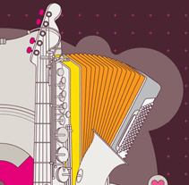 Poster I LOVE MUSIC. A Design project by Laura Asensio - May 11 2010 09:35 AM