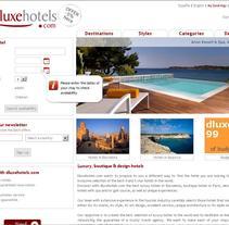 dluxehotels.com. Um projeto de Design, Desenvolvimento de software e Informática de Xavi Pujolràs         - 07.07.2010
