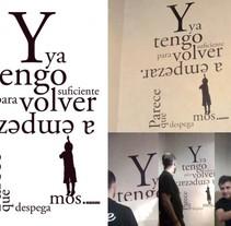 Vinilo tipográfico. Un proyecto de Diseño de Antonio  Vivancos - 12-07-2010