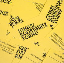 Ignasi Rodríguez Torné. Un proyecto de  de Tres Tipos Gráficos          - 07.09.2010