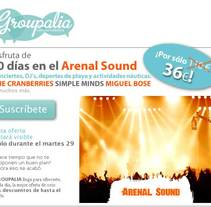 emailing arenal sound. A Advertising project by Massimiliano Seminara - 09-09-2010