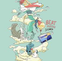 Vence al mareo. Un proyecto de Ilustración y Publicidad de Javier Valle         - 23.11.2010