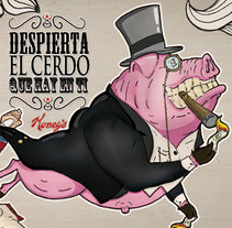 Despierta el Cerdo que Hay en Ti. Um projeto de Design e Ilustração de rk estudio         - 05.12.2010