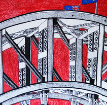 Estudio de Harbour Bridge. A Illustration project by David  Alvarez Pardo         - 29.01.2011