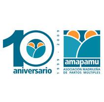 Logotipo 10º aniversario AMAPAMU. Un proyecto de Diseño de Manel S. F.         - 06.02.2011