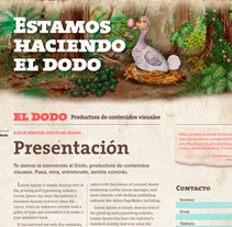 El Dodo · Productora de contenidos visuales. A Design, Illustration, and Software Development project by Victoria Reguera         - 13.04.2011