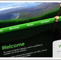 Patrick Cafferkey Irish Piper Hire. Um projeto de Design, Desenvolvimento de software e UI / UX de josé miguel martínez         - 01.06.2011