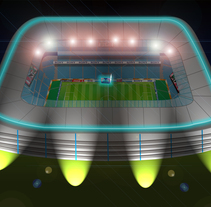 Estadio de football. A Design, Illustration, Advertising, and Photograph project by Damian Carlos Gerez         - 06.06.2011