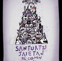 Santurtzi Jaietan 2011. Un proyecto de Diseño e Ilustración de Uka         - 17.06.2011