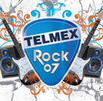 Telmex Rock 07. A Design, Illustration, and Advertising project by Javier Robledo         - 08.07.2011