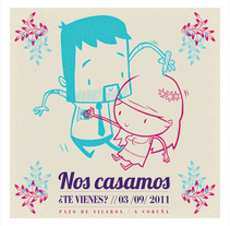 Invitación de Boda. A Illustration project by Paco Pereira Ajenjo - 12-07-2011