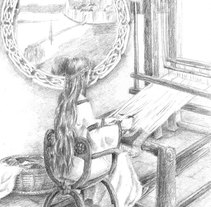 The Lady of Shalott. A Illustration project by Natalia Salvador - Jul 17 2011 01:13 PM
