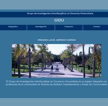 Sitio web del GIDU (Alicante). Um projeto de Design, Ilustração, Publicidade, Música e Áudio, Motion Graphics, Instalações, Desenvolvimento de software, Fotografia, Cinema, Vídeo e TV, UI / UX, 3D e Informática de Diego Gavilán Martín         - 03.08.2011