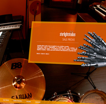 Starlight Studios - Studio Recording. Um projeto de Design, Ilustração, Música e Áudio e Desenvolvimento de software de AndreaEmma         - 04.08.2011