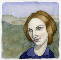 Biografía Charlotte Brontë. A Illustration project by Estrella Conde         - 07.08.2011