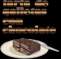 tarta de galletas con chocolate. Un proyecto de Ilustración de adriana carcelen         - 19.08.2011
