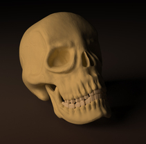 3D Skull 3dsMax&Zbrush&Maya. A Illustration, Film, Video, TV, and 3D project by Ruben Roldan Crespo         - 14.09.2011