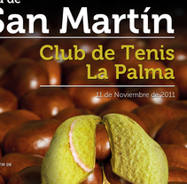 Cartel San Martín Club de Tenis La Palma. Um projeto de Design, Ilustração e Publicidade de jose adolfo santana ponce de león         - 22.11.2011