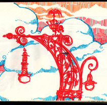 Barcelona en la libreta. Un proyecto de Ilustración de Manuel Mateo Torés - 26-12-2011
