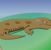 blue tongue lizard. Um projeto de Ilustração, Motion Graphics e Cinema, Vídeo e TV de Gupo         - 29.12.2011