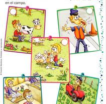 Fichas Educativas. Um projeto de Design, Ilustração, Publicidade e Motion Graphics de eugenia suárez         - 13.01.2012