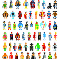 Pixel Heroes. A Design&Illustration project by Pablo Cialoni - Feb 15 2012 02:25 PM