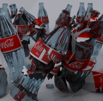 Meca Vs Coke. A Design, Illustration, and 3D project by Javier Gamero Sánchez         - 15.03.2012