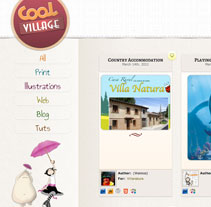 Web CoolVillage. Um projeto de Design, Ilustração e Desenvolvimento de software de Daniel Martínez         - 17.03.2012
