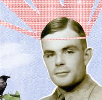 Alan Turing. A Design&Illustration project by Virginia Peláez         - 25.03.2012