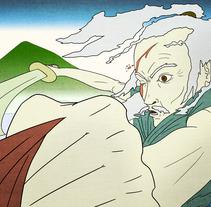 The Old Man and His Sword. Un proyecto de Ilustración de Julio Michelon         - 06.04.2012