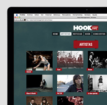 Hook Management website. A Design, and UI / UX project by Guillermo Brotons         - 17.04.2012