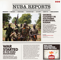 Website Design Nuba Reports. A Design, Art Direction, and Graphic Design project by Marina L. Rodil Garamond         - 22.09.2012