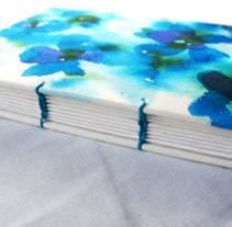 Libro cosido copto . Acuarelas . papel Arches. Un proyecto de Diseño, Ilustración y Publicidad de caligrafiamos         - 15.05.2012