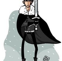 Jon Snow. Um projeto de Ilustração de Ainhoa Garcia         - 24.05.2012