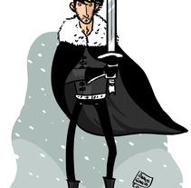 Jon Snow. A Illustration project by Ainhoa Garcia - 24-05-2012