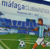 Malaga C.F x Nike Show. Un proyecto de Diseño, Instalaciones, Publicidad, Cine, vídeo, televisión e Ilustración de Chiko  KF - Jueves, 07 de junio de 2012 00:00:00 +0200