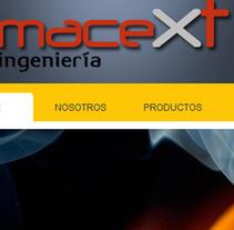 Macext Ingeniería. Un proyecto de Diseño, Ilustración, Desarrollo de software y UI / UX de Daniela Nettle - 19-06-2012
