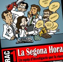 Poster La Segona Hora. Un proyecto de Ilustración de Dànius Dibuixant - Il·lustrador - comicaire         - 18.07.2012