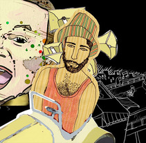 EL PAIS con Calle 13. A Illustration project by vritis de la huerta         - 20.07.2012