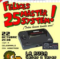 Fiesta Aniversario Master System. A  project by M.A. Serralvo - 21-09-2012