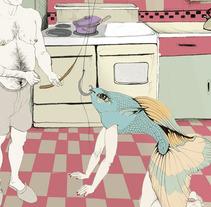 Cartel contra de la violencia de género. A Design, Illustration, and Advertising project by Cecilia Sánchez         - 03.10.2012