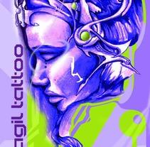 Tarjetas Fragil Tattoo. A Design project by Ozonozero         - 03.10.2012