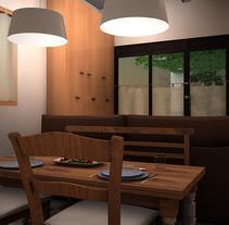 Transformación de un Garaje en un pequeño estudio. A Design, Installations, and 3D project by Elena Luque Pérez         - 08.10.2012