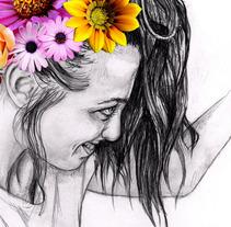 Selfportrait. Un proyecto de Ilustración de Rachel Winkle         - 11.10.2012
