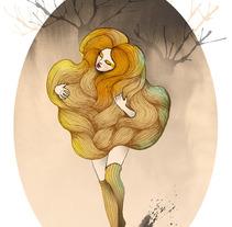 Autumn wind. A Illustration project by Anna González Azuaga         - 18.10.2012