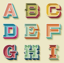 Alfabetos Fun Choices. Un proyecto de Diseño e Ilustración de David Sierra Martínez - 06-01-2013